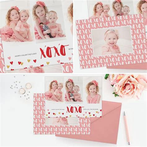 photoshop valentines day card templates s photo card template xoxo