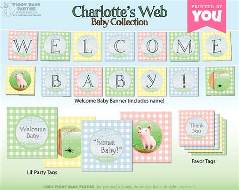 Web Baby Shower by S Web Baby Collection Diy Printable By