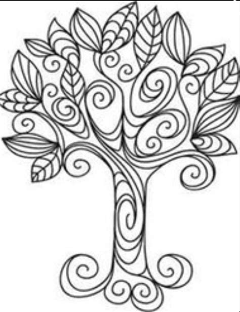 quilling tree template quilling pinterest
