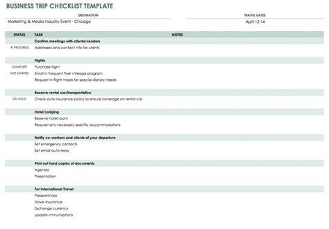 28 Free Time Management Worksheets Smartsheet Business Travel Planning Checklist Template