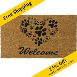 Welcome Mats Quot Shaped Paws Welcome Mat Quot