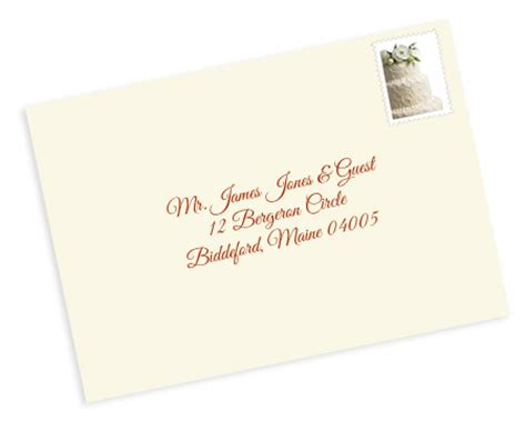 Cards Addressed And Mailed - properly address pocket invitations without inner envelopes