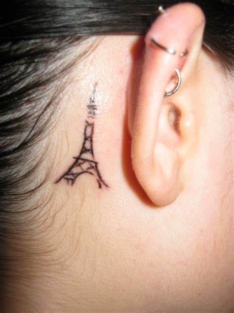 eiffel tower tattoo behind ear la tour d eiffel tattoo picture at checkoutmyink com