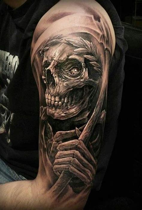 grim reaper tattoo designs for men 35 cool cryptic grim reaper tattoos