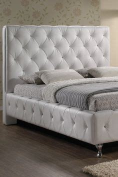 stella crystal tufted white modern bed with upholstered headboard 1000 images about beds where the magic never happens on