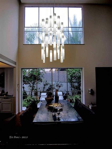 modern foyer chandelier  entrayway  stairway lighting