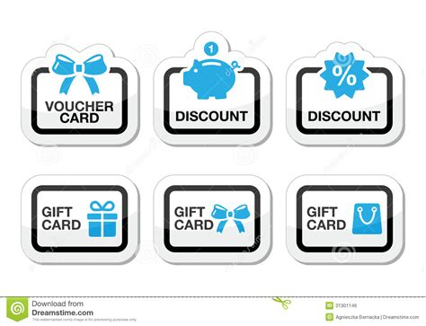 Discount Gift Cards For Sale Online - voucher gift discount card icons set stock illustration image 31301146