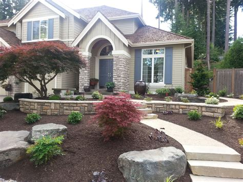 Landscape Pictures Front House Janika Landscaping Ideas Front Yard Illinois Here