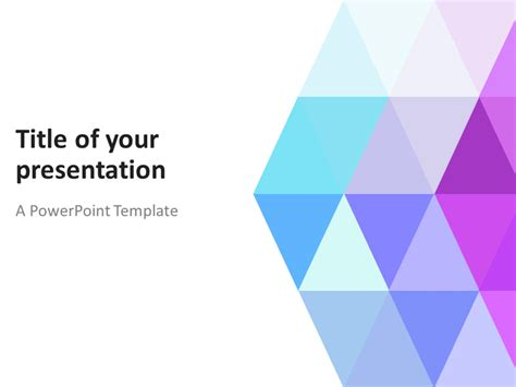 abstract powerpoint template with pastel triangles
