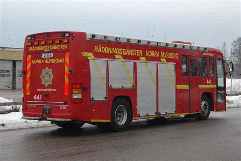 fire engines  volvo bm rescue pumper faergelanda sweden