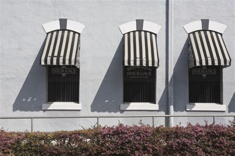 And White Striped Awning by Image Striped Awnings