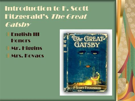 the great gatsby f scott fitzgerald ppt download ppt introduction to f scott fitzgerald s the great