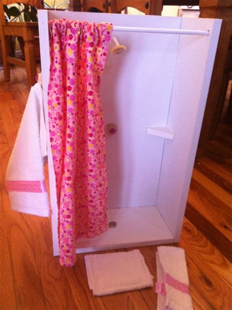 how to make an american girl doll bathroom 18 inch doll shower american girl pinterest towels