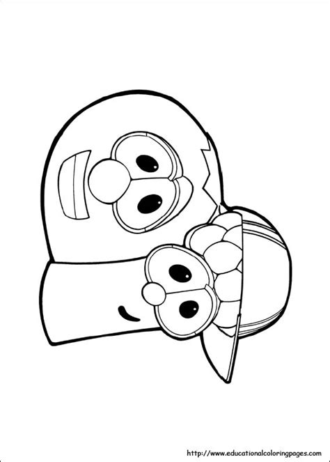 Coloring Page Veggie Tales by Veggie Tales Coloring Pages Free For