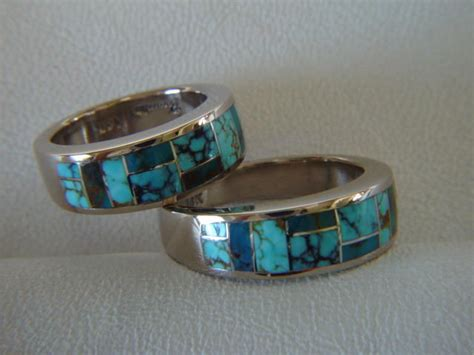 matching wedding rings 7 mm wide 14 karat white gold