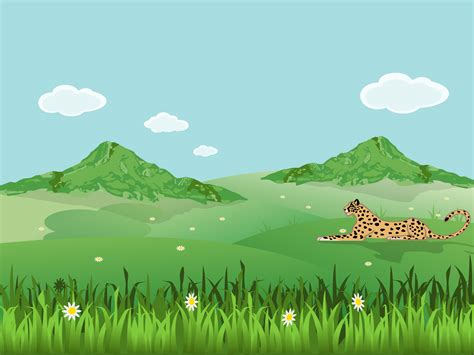 Leopard On Landscape Backgrounds Animals Green Nature Templates Free Ppt Backgrounds And Nature Powerpoint Template