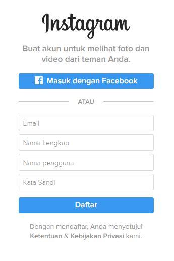 membuat akun instagram di browser cara daftar dan membuat akun instagram via browser pc