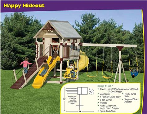 rent to own swing sets swing set happy hideout h68 7