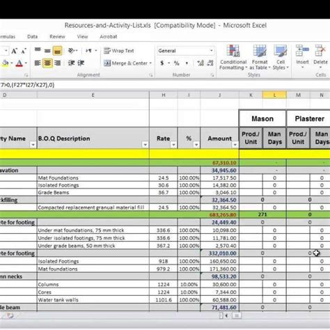 resource loading template resource planning spreadsheet fern spreadsheet