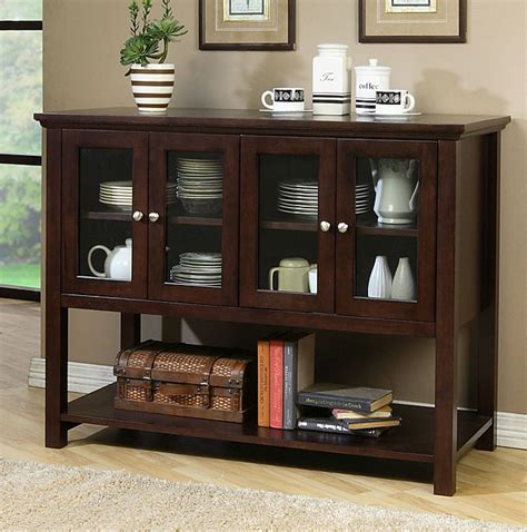 Beckett Dark Walnut Buffet   80001030   Overstock.com Shopping   Big Discounts on Buffets