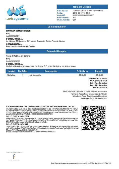 factura nota de cargo nota de credito recibo de factura com inicio