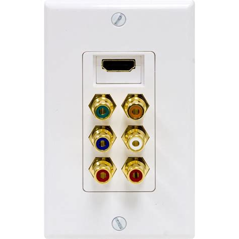Component Cable Wall Plate - ge component hdmi digital and audio combination wall