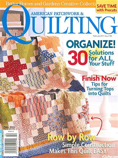 American Patchwork And Quilting Magazine - better homes and gardens american patchwork quilting