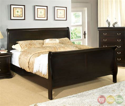 louis philippe sleigh bedroom set louis philippe iii traditional espresso sleigh bedroom set