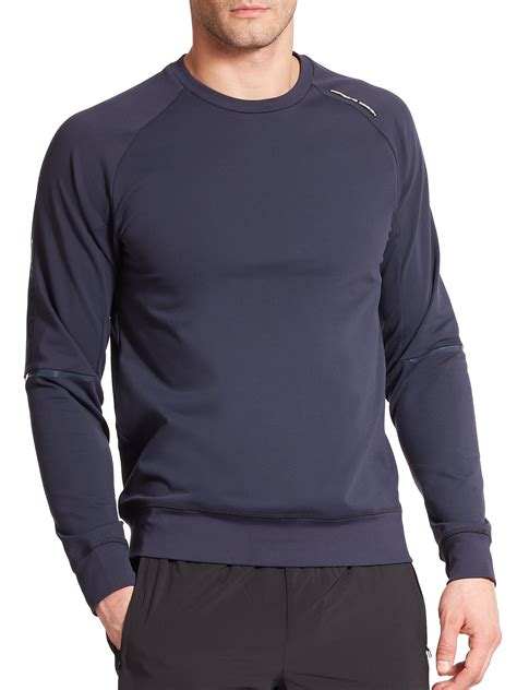 porsche design relax sweatshirt in blue for lyst