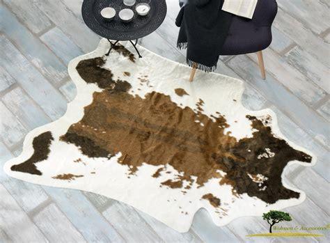 kuhfell teppich kuhfell teppich braun aus kunstfell fellteppich