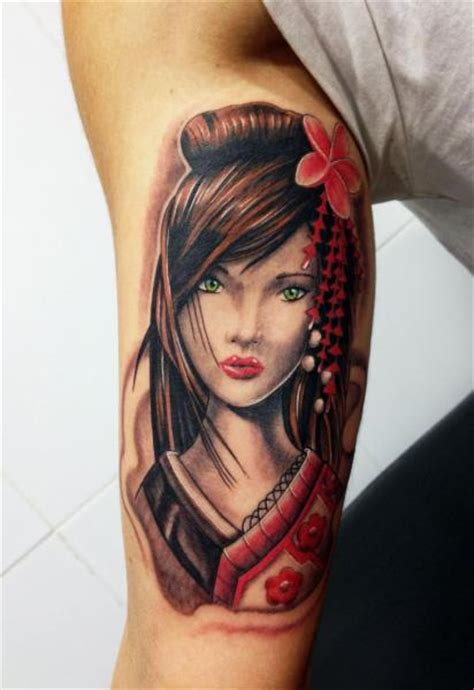 tattoo geisha face arm japanese geisha tattoo by wanted tattoo