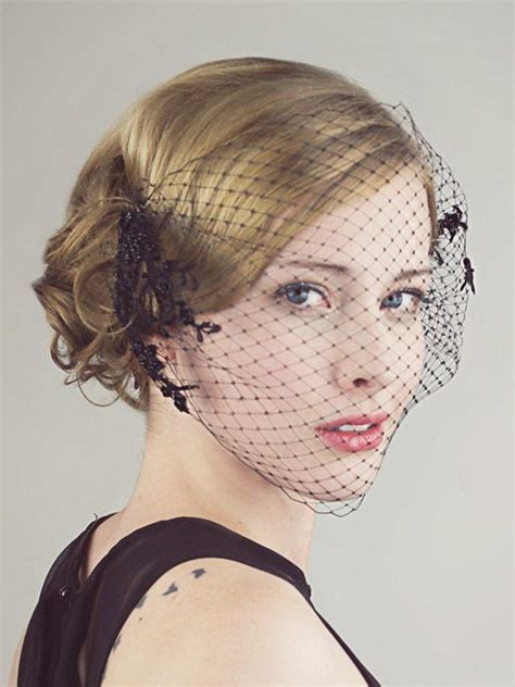 Best 25  Black birdcage veils ideas on Pinterest   Black