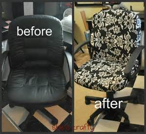 Office Chair Cover Designs Diy Recover Your Office Chair How To Diy Home Decor