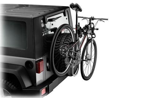 how to put thule bike rack on car spare tire mount bike racks rack attack