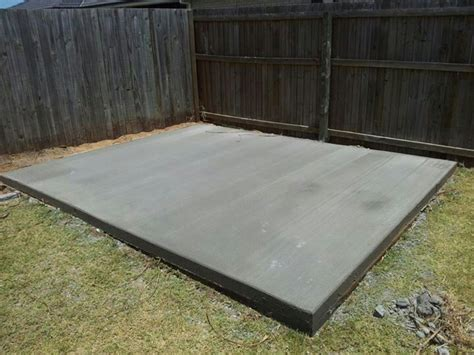 build  storage shed   concrete slab goehs