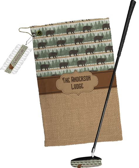 cabin golf towel gift set personalized you customize it