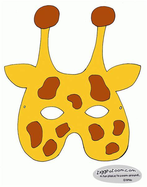 printable giraffe mask template giraffe mask ziggity zoom