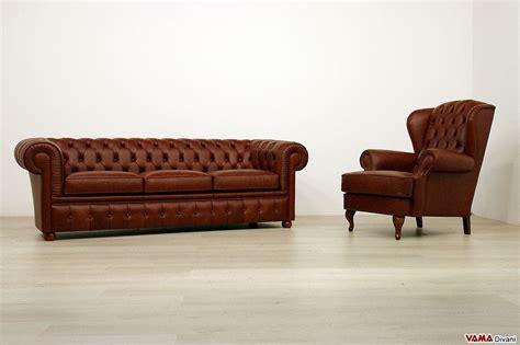 divani chester in offerta divano chesterfield in offerta 3 posti in vera pelle marrone