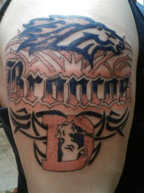denver broncos tattoo how awesome is this denver broncos s