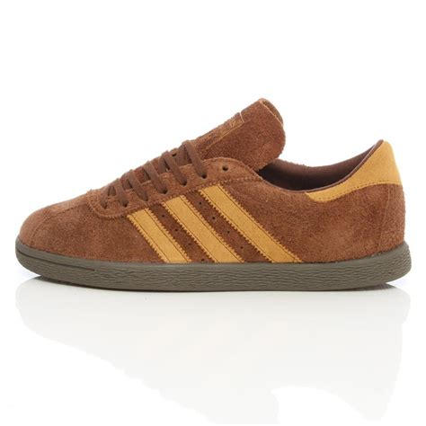 mens adidas originals brown suede tobacco trainers