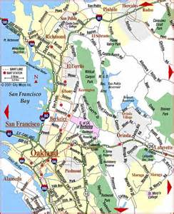 road map of bay area east bay orinda california