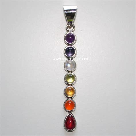 collier 7 chakras pierres veritables bijoux sonat