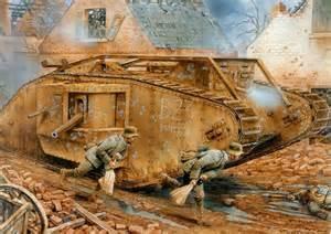 Destruction of the tank bandit ii fontaine cambrai 23 nov 1917tanks