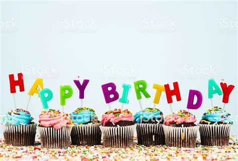 cupcake border  happy birthday message stock photo  pictures  backgrounds istock