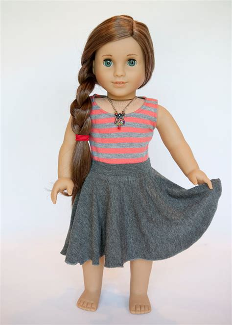 American Doll L by American Doll Midi Circle Skirt Grey By