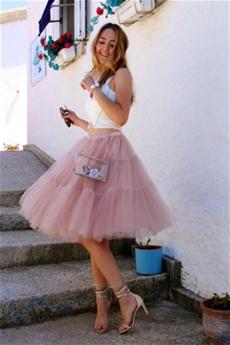 Rok Transparant Tutu light pink tutu chicwish skirts white transparent vjstyle