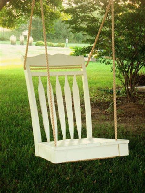 diy swings diy garden swing made from wood chair garden pinterest