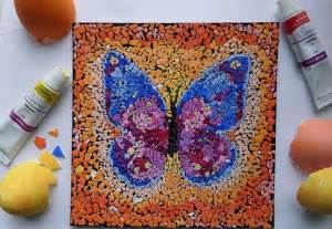 Decorating With Chandeliers Eggshell Mosaic Art Ideas To Reuse Eggshells After Easter
