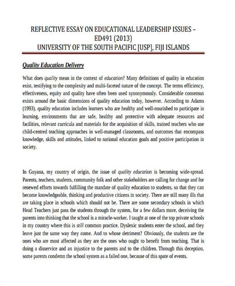 Do My Best Reflective Essay by Format Of A Reflective Essay A Reflective Essay Exle
