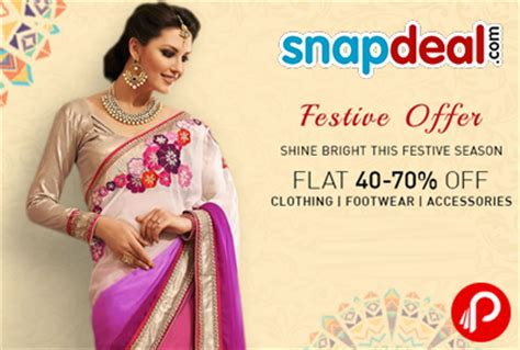 snapdeal online shopping todays offer flat 40 70 off on clothing footwear accessories